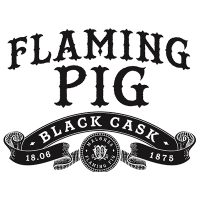 Flaming Pig Black Cask is a small batch blend of single malt Irish whiskey matured in first fill bourbon casks with butterscotch and tropical fruits on the nose and concentrated spice, nutty notes and vanilla sweetness in the taste.